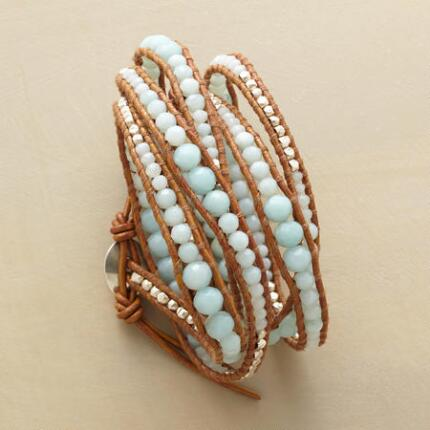 Serenely luminous, this light blue Chan Luu bracelet could make any look glow.
