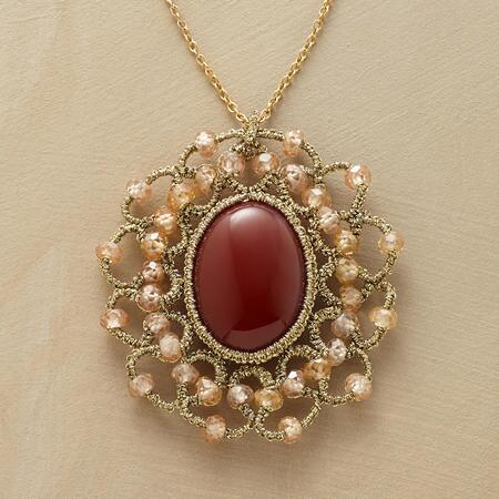 LACY CARNELIAN NECKLACE