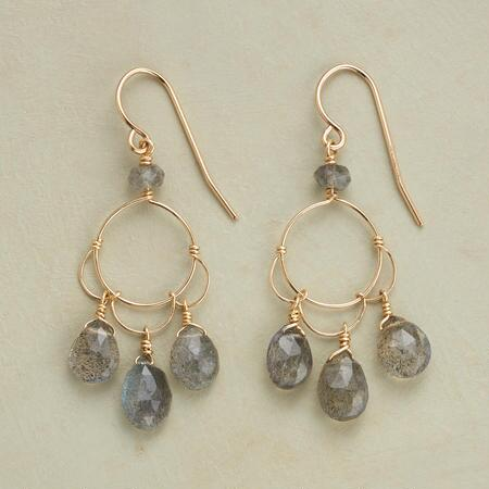 LABRADORITE PETALS EARRINGS