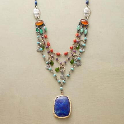 TIERED LAPIS NECKLACE