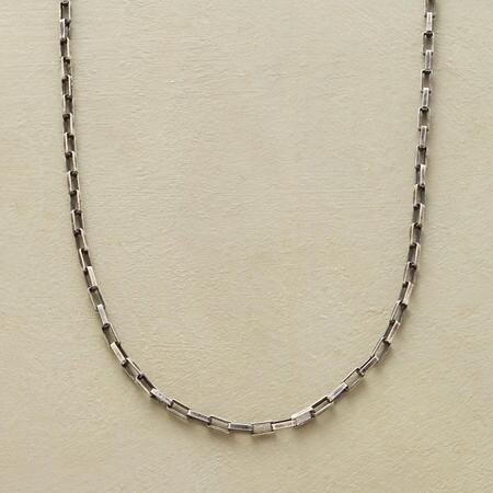 A basic essential, this oxidized sterling chain necklace is perfect for carrying a pendant or charms.