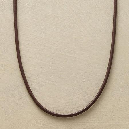 This brown leather necklace makes a perfect charmholder or layering piece.
