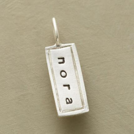Make a piece all your own with these personalized sterling silver charms.
