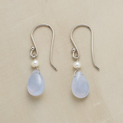 PEARL & CHALCEDONY EARRINGS