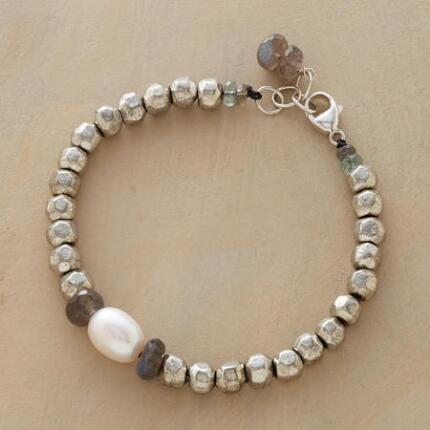 STERLING NUGGET BRACELET