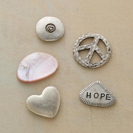 HOPEFUL HEART CHARMS S/5
