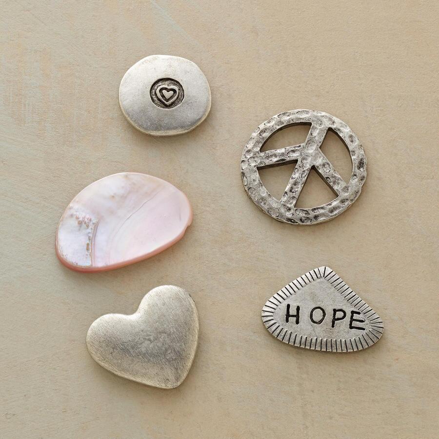 HOPEFUL HEART CHARMS S/5