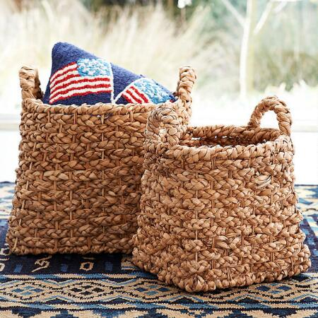 WOVEN SEAGRASS BASKETS S/2