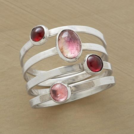 PALMILLA RINGS, SET OF 4