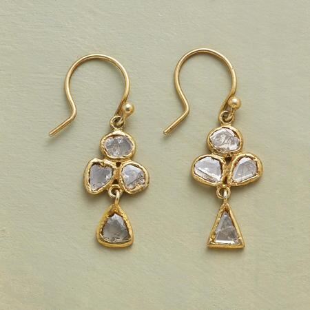 DIAMOND CRACKLE EARRINGS