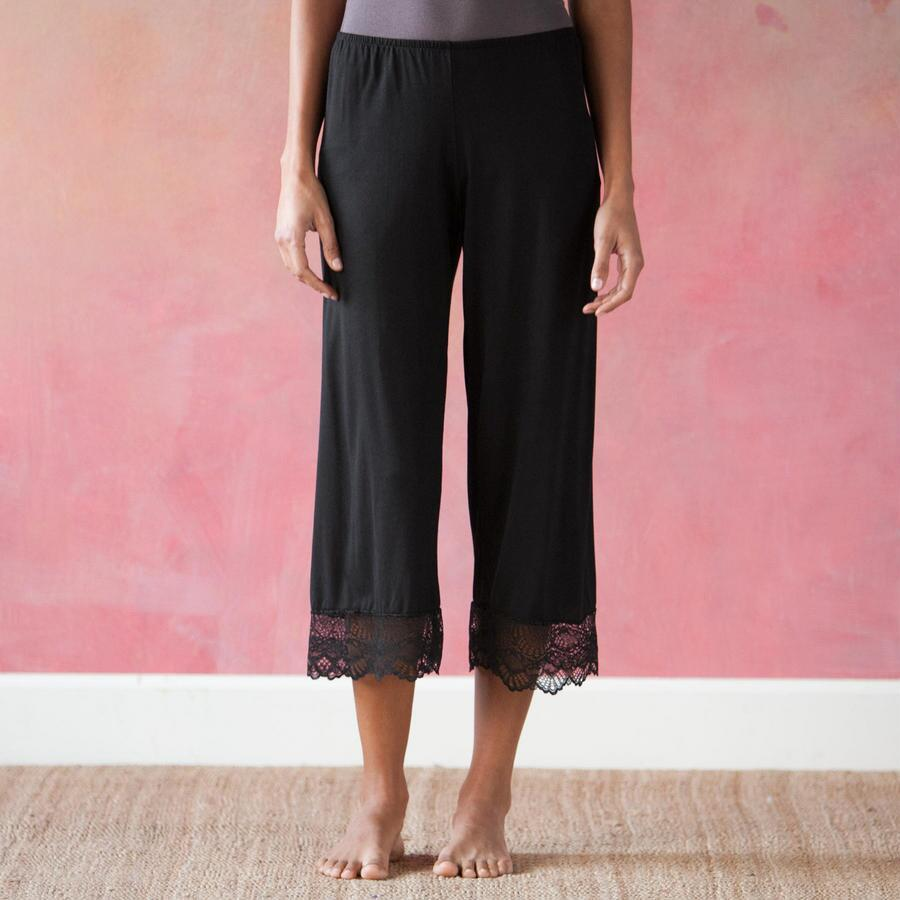 LACE-EDGED LOUNGE PANTS