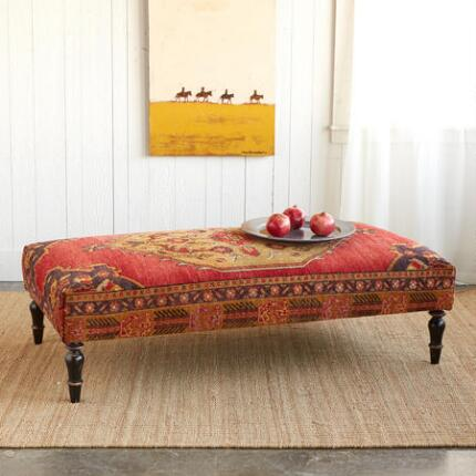 IZMIR TURKISH CARPET OTTOMAN