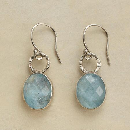 LOOPED AQUAMARINE EARRINGS