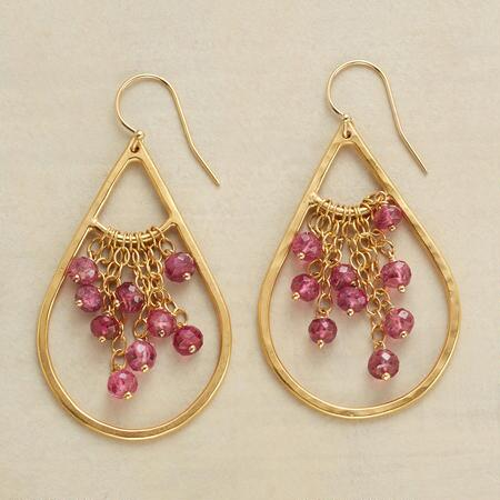 PINK TOURMALINE TRAPEZE EARRINGS