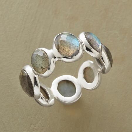ALL AROUND LABRADORITE RING