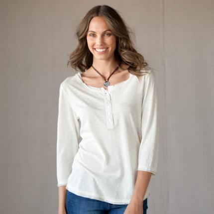 SILK ACCENTS HENLEY