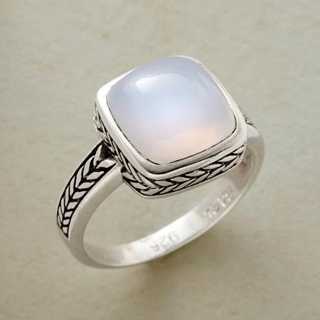 COOL BLUE CHALCEDONY RING