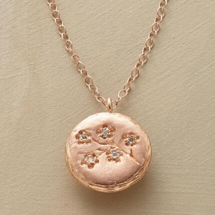 DIAMOND CHERRY BLOSSOM NECKLACE
