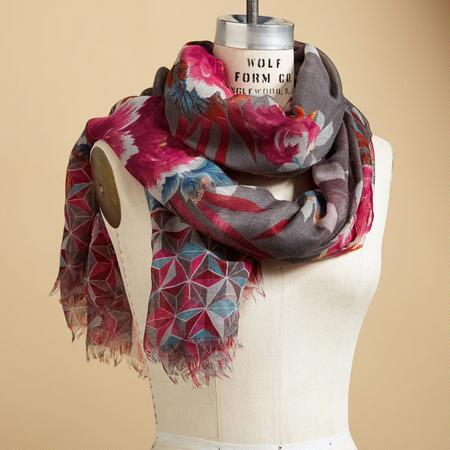 WILD ORCHID SCARF