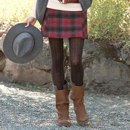 HEARTHSIDE PLAID SKIRT