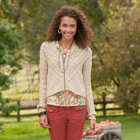INTERLAKEN HI-LO CARDIGAN