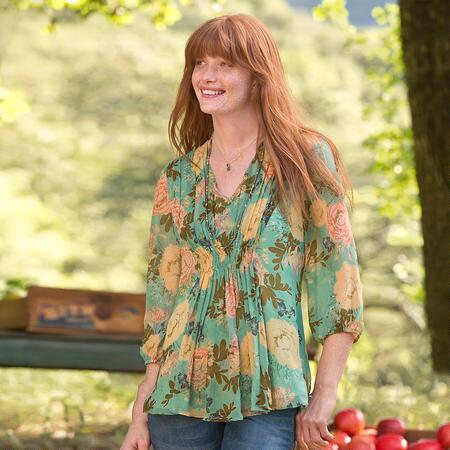 SYLVAN SILK BLOUSE