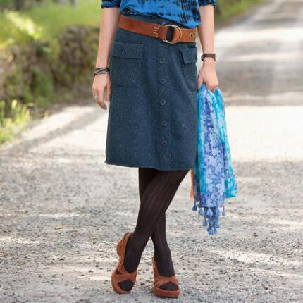 HOME FRONT TWEED SKIRT