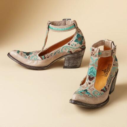 DEBORAH RICO T-STRAP SHOES
