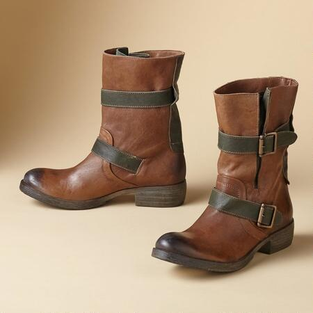 Our two-tone military-inspired leather boots will quickly become your favorites.