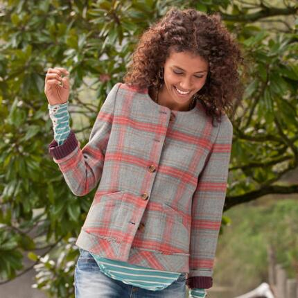 SWAN ISLAND PLAID JACKET