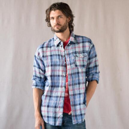 SUMMER PLAID LINEN SHIRT