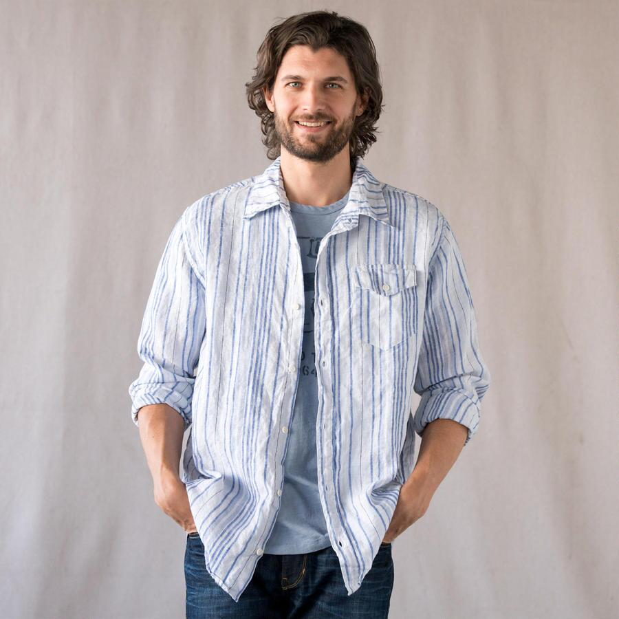 SEABREEZE STRIPE LINEN SHIRT