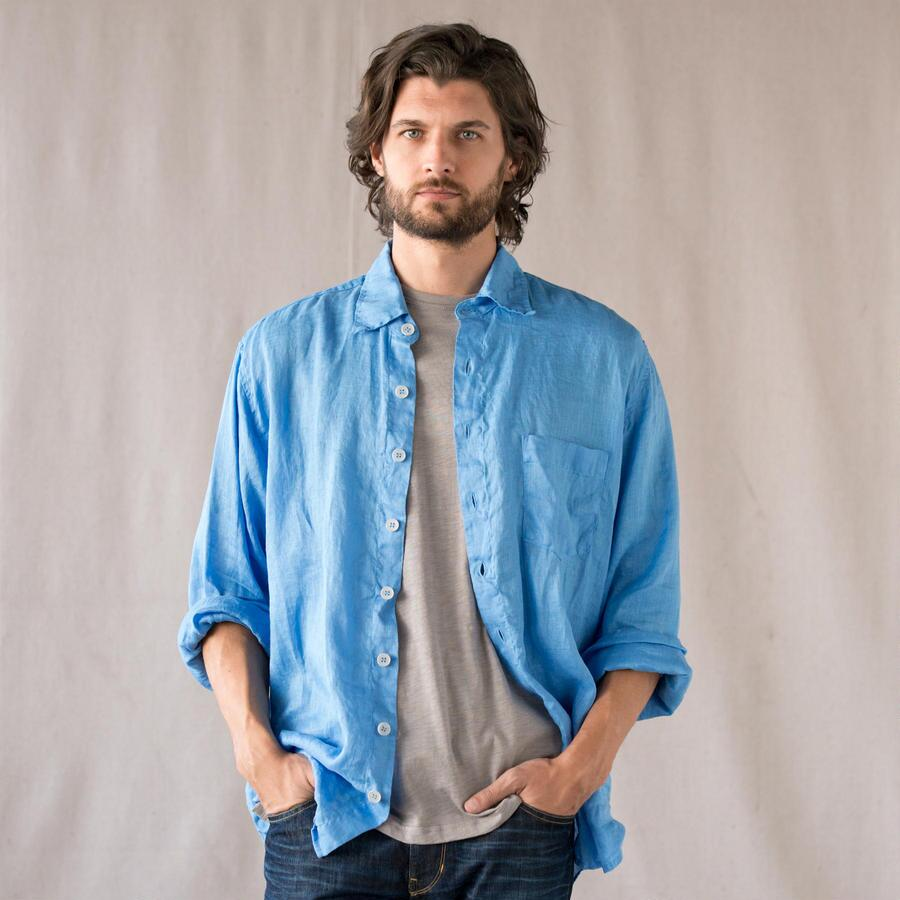 BLUE SKIES LINEN SHIRT