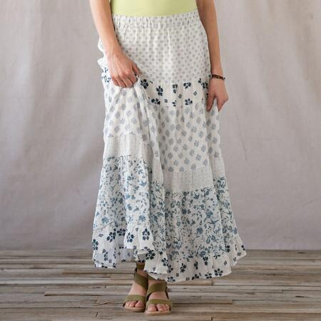 C P SHADES SEA DRIFT TIERED SKIRT