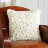 HOMESPUN BASKETWEAVE PILLOW