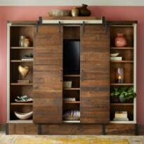 YORKVILLE SLIDING DOOR MEDIA WALL CABINET