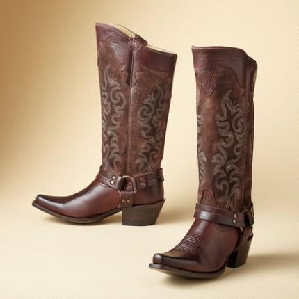 LILLY TALL HARNESS BOOTS