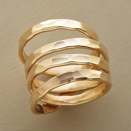 Send your outfit into orbit with this gorgeous 14kt goldfilled Saturn ring.