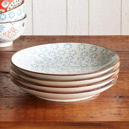 Mix things up with a ceramic salad plates set that sports several pretty patterns.