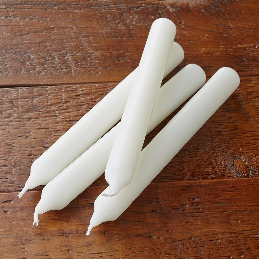 "9"" IVORY TAPER CANDLES, SET OF 4"