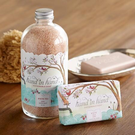 WHITE TEA SOAP & BATH SALTS SET