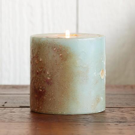 AQUA ANTIGUA PILLAR CANDLE