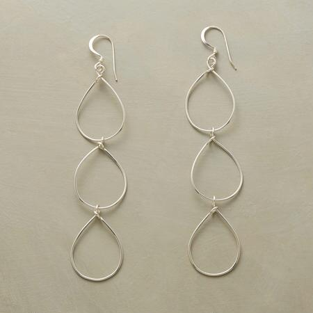 RAIN CHAIN STERLING EARRINGS