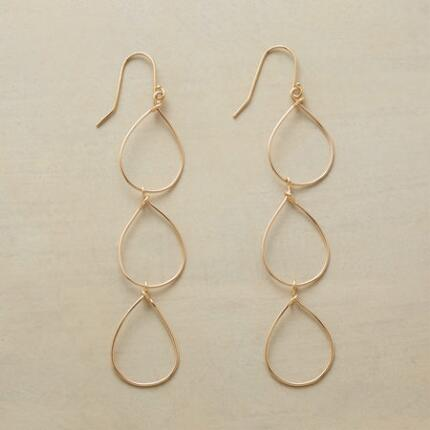 RAIN CHAIN GOLD EARRINGS