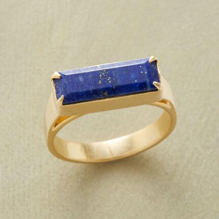 Elegant and modern, this deep blue lapis ring will be an instant favorite.