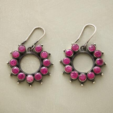 RUBY WREATH EARRINGS