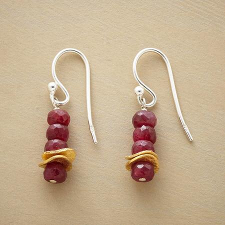 RUBY QUARTET EARRINGS