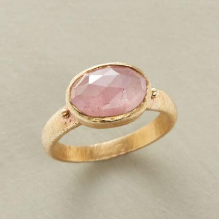 This coquettish pink oval sapphire ring will add an air of prettiness to any look.