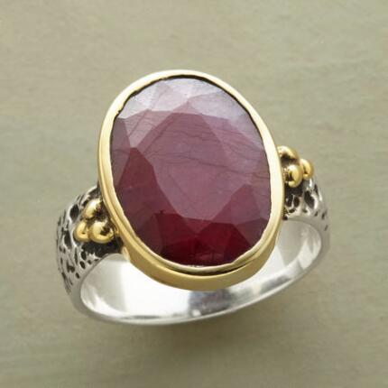 This red ruby Alexandra Ring makes a consummately regal impression.