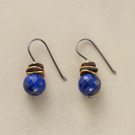 LAPIS TOP HAT EARRINGS